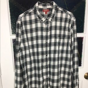 Arizona Jeans Co Men's Plaid Button Down Shirt